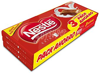 Extrafino Nestlé Chocolate Pack 3x150 g