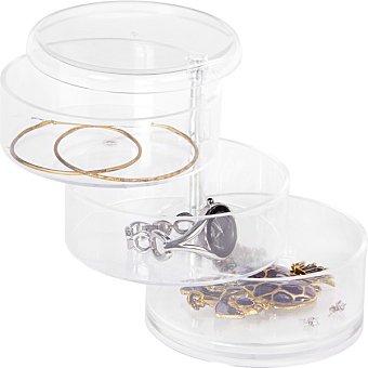 Organizador de joyas transparente