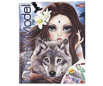 Top model Cuaderno de colorear y bocetos Fantasy model, VV.AA. Género: actividades, infantil. Editorial Depesche. Descuento ya incluido en PVP. PVP anterior: