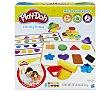 Juego de plastilina Colores y formas con accesorios y 8 botes de pasta para moldear, play-doh.  Playdoh