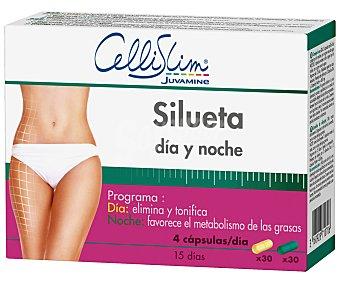 Cellislim Silueta Dia-Noche en comprimidos Caja 60 unid