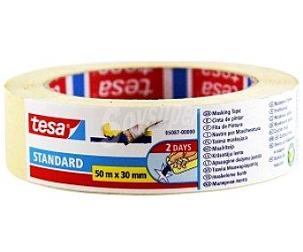 Tesa Cinta pintor estándar para perfiles rectos 30mm x 50 Metros
