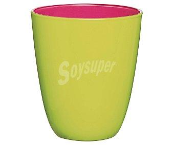 LUMINARC Vaso de cristal con 25 cl de capacidad, diseño liso bicolor rosa-verde granny con acabado mate modelo Spring Break 1 unidad