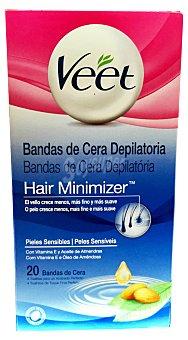 Veet Cera depilar fria bandas corporales piel sensible Paquete 20 u