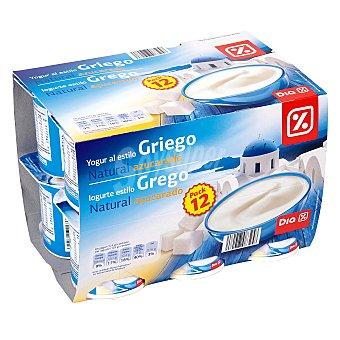 DIA Yogur griego natural azucarado Pack 12 unidades 125 g