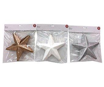 Actuel Colgante con figura de estrella de 19 centímetros, en color blanco, plata o dorado, ACTUEL.