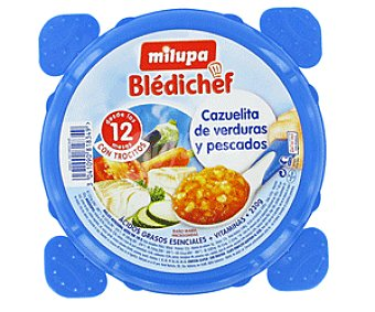 Milupa Bledichef Tarrina de Verduras y Pescado 230 Gramos