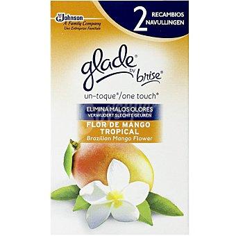 Glade Brise un toque ambientador Flor de Mango Tropical recambio 2 unidades 2 unidades