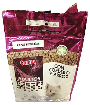 Compy Comida perro razas pequeñas adulto croqueta arroz cordero Paquete 2 kg