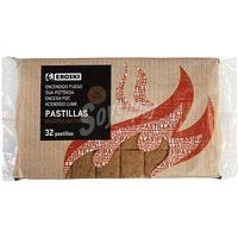 Eroski Pastilla de encendido de madera natural Pack 32 uds