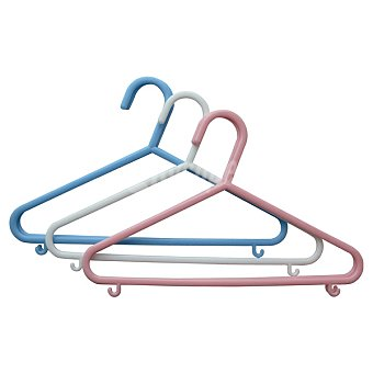 CASACTUAL Set 5 perchas infantiles de plástico en colores surtidos