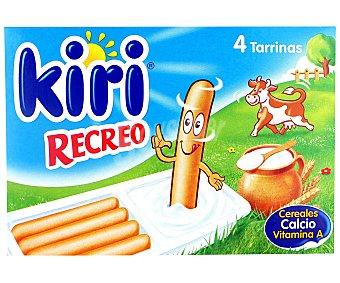 Kiri Queso fundido en porciones Recreo, pack de 4 unidades de 35 gramos 4x35g