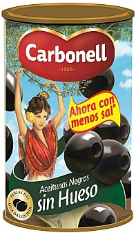 Carbonell Aceitunas negras sin hueso Lata 150 g