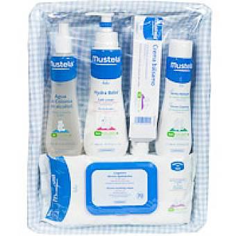 MUSTELA Canastilla azul 5 productos Pack 1 unid