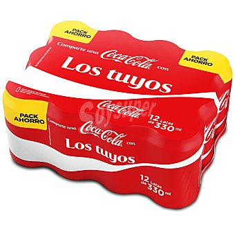 Coca-Cola Refresco de cola 12 latas de 33 cl