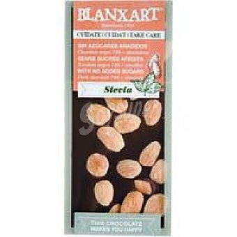 Blanxart Choco negro 74% con stevia-almendra Tableta 100 g