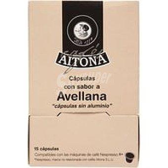 AITONA Café aroma avellana 15 monodosis