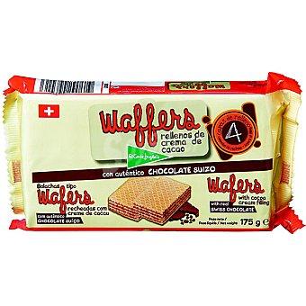 El Corte Inglés Rellenos de cacao con auténtico chocolate suizo estuche 175 g Wafers Estuche 175 g