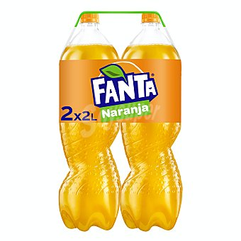 Fanta Refresco de naranja Pack 2 botellas x 2 l