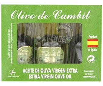 OLIVO DE CAMBIL Aceite de oliva virgen extra 3 Unidades de 25 Mililitros