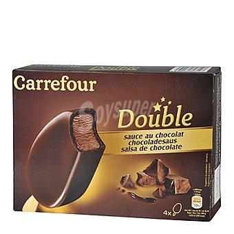 Carrefour Helado bombón doble de chocolate 4 ud