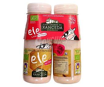 Xanceda Leche fermentada ecológica con Lcasei y sabor a fresa 2 x 165 g