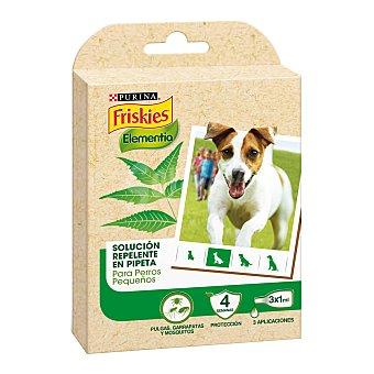 Purina Friskies Pipetas desparasitantes para perros de hasta 15 Kg Friskies Elementia 3 x 1 ml Pequeño