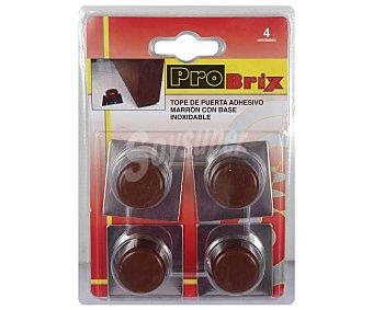 PROBRIX Topes Adhesivos de Color Marrón con Base Color Aluminio 4 Unidades