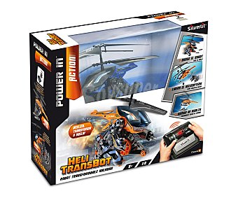 Silverlit Coche y Helicoptero Radicontrol, Modelo Heli Transbot 1 Unidad