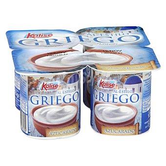 Kalise Yogur griego natural azucarado sin gluten Pack 4 unidades 125 g
