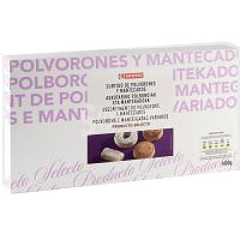 Eroski Surtido de polvorones-mantecados Estuche 2,1 kg