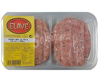 Elave Bandeja de burger meat de carne de pollo con ajo y perejil, elaboradas sin gluten 2 uds