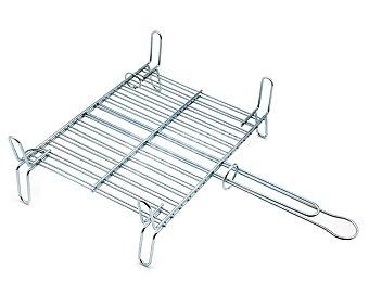 DALPER Parrilla doble rectangular de hierro para barbacoas, 40x45 centímetros 1 unidad