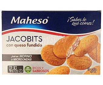 MAHESO Jacobits con queso fundido (porciones empanadas de cerdo con queso fundido) para horno o microhondas 280 g