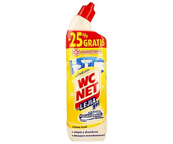 WC Net Gel Limpiador Wc Blanco Extra Botella 750 ml
