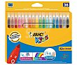 Caja de 36 rotuladores de colores surtidos de punta media. BIC.  BIC Kids Couleur