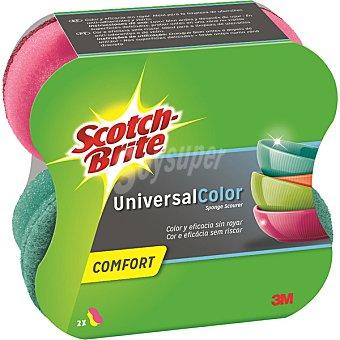 Scotch Brite estropajo Comfort Universal Color salvauñas  envase 2 unidades
