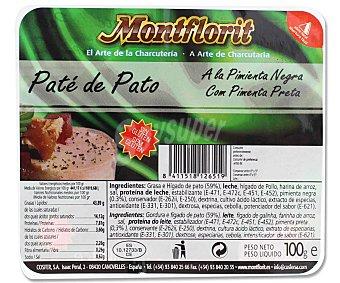 MONTFLORIT Paté de pato a la pimienta negra 100 gramos