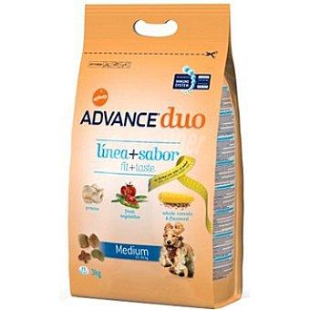 Advance Affinity Medium alimento de alta gama para perro adulto de raza medium con pollo y verduras Duo Línea+sabor Bolsa 3 kg