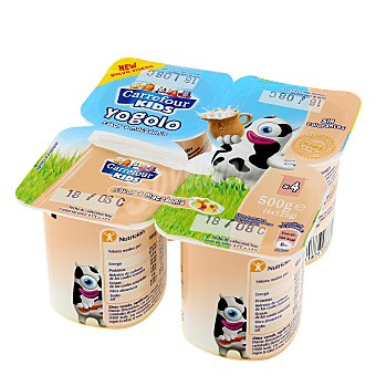 Carrefour Kids Yogur sabor macedonia Pack de 4x125 g