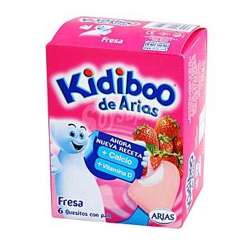 ARIAS Kidiboo al queso blanco con fresa Pack 6x20g