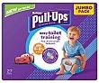 Pañales de aprendizaje talla 1-2.5, para niños de 8 a 17 kilogramos 27 uds Huggies Pull-Ups
