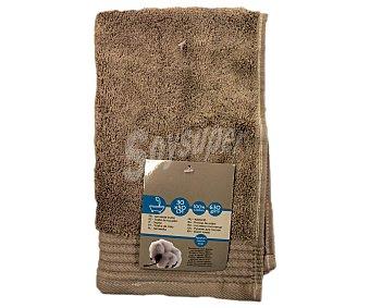 Auchan Toalla para tocador de algodón egipcio, 630 gramos/m², color marrón, 30x50 centímetros 1 Unidad