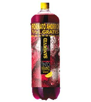 Sandevid Tinto de verano limón Botella de 2 l