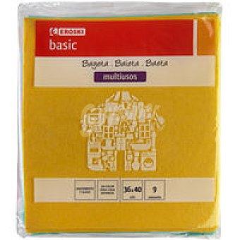 Eroski Basic Bayeta de colores Pack 9 unid