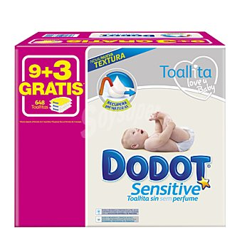 Dodot-Sensitive Toallitas pack de 12x54 ud