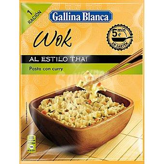 GALLINA BLANCA WOK Pasta con curry al estilo thai Sobre 86 g