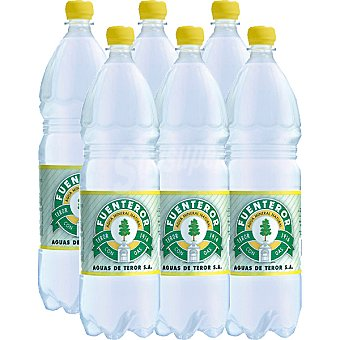 Fuenteror Agua mineral natural con gas Pack 6 botellas 1,5 l
