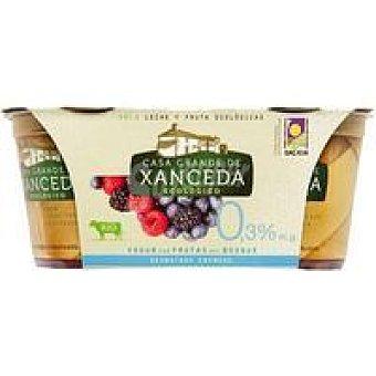 CASA G. de XANCEDA Yogur eco frutas del bosque 0% Pack 2x125 g