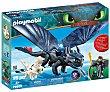 Set de muñecos Hipo y Desdentao con bebé dragón, serie Dragons. playmobil. Playmobil